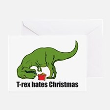 T-rex hates Christmas Greeting Cards