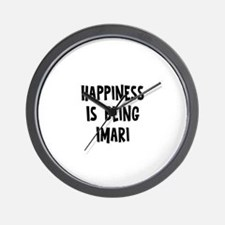 Happiness is being Imari Wall Clock