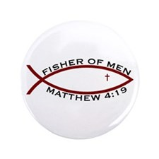 "Fisher (RED) - 3.5"" Button (100 Pack)"