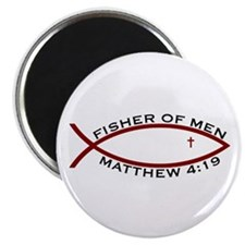 """Fisher (RED) - 2.25"""" Magnet (10 Pack)"""