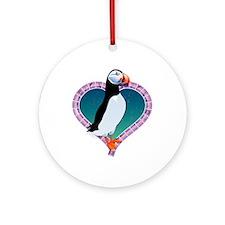 Valentine's Day Puffin Ornament (Round)