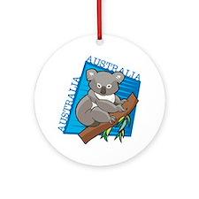 Australia Koala Ornament (Round)