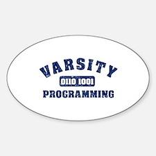 Varsity Programming Oval Decal