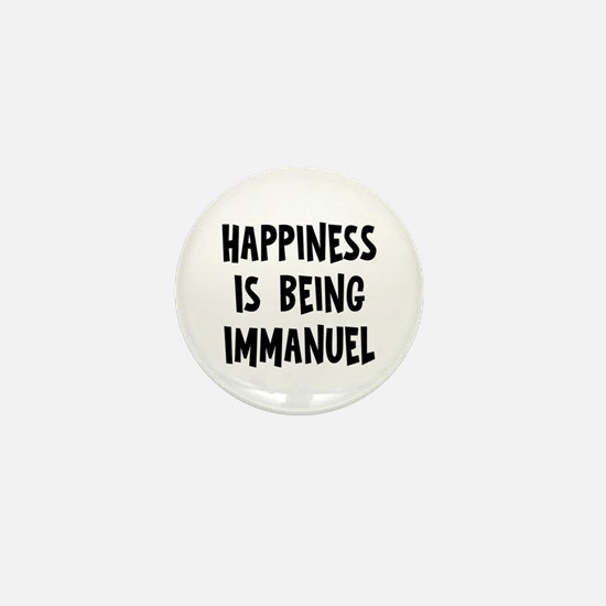 Happiness is being Immanuel Mini Button