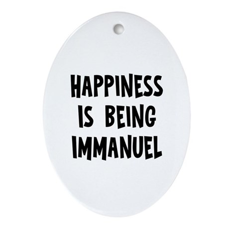 Happiness is being Immanuel Oval Ornament