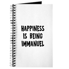 Happiness is being Immanuel Journal