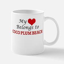 My Heart Belongs to Coco Plum Beach Florida Mugs