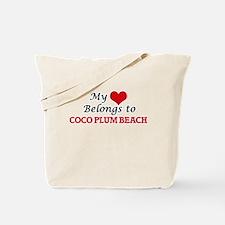 My Heart Belongs to Coco Plum Beach Flori Tote Bag