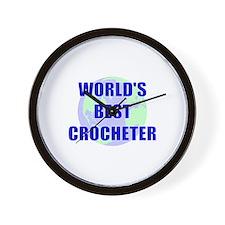 World's Best Crocheter Wall Clock