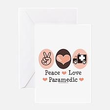 Peace Love Paramedic EMT Greeting Card