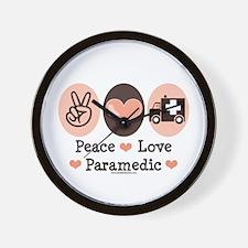 Peace Love Paramedic EMT Wall Clock