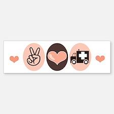 Peace Love Paramedic EMT Bumper Bumper Bumper Sticker