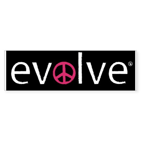 Evolve to Peace - Pink Bumper Sticker