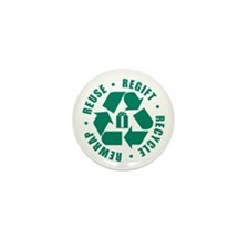 Regift Recycle Rewrap Reuse Mini Button