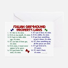 Italian Greyhound Property Laws 2 Greeting Cards (
