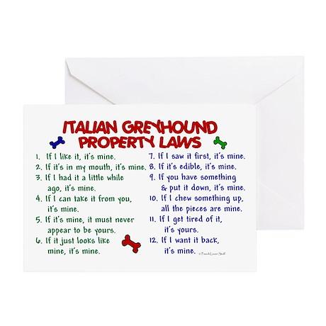 Italian Greyhound Property Laws 2 Greeting Card