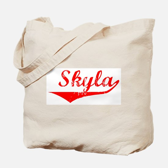 Skyla Vintage (Red) Tote Bag