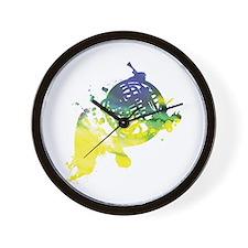 Paint Splat French Horn Wall Clock