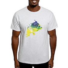 Paint Splat French Horn T-Shirt