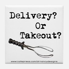Delivery? Or Takeout? Tile Coaster