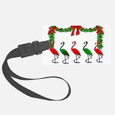 Christmas Flamingos Rockettes Luggage Tag