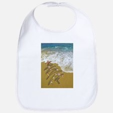 Christmas Seashells and Tree Washed Up on Shor Bib