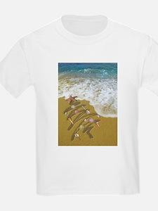Christmas Seashells and Tree Washed Up on T-Shirt