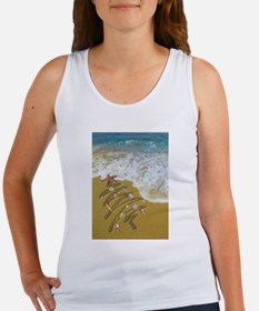 Christmas Seashells and Tree Washed Up on Tank Top