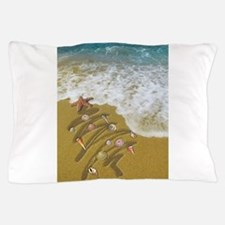 Christmas Seashells and Tree Washed Up Pillow Case
