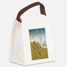 Christmas Seashells and Tree Wash Canvas Lunch Bag