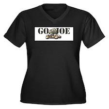 Go Joe Women's Plus Size V-Neck Dark T-Shirt