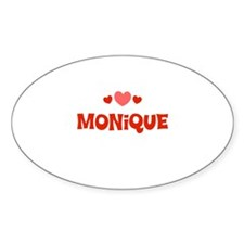 Monique Oval Decal