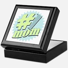 No. 1 Mom Tile Keepsake Box