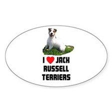 I Love Jack Russell Terriers Oval Decal