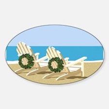 Beach Chairs with Wreaths Decal