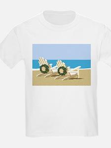 Beach Chairs with Wreaths T-Shirt