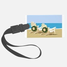 Beach Chairs with Wreaths Luggage Tag