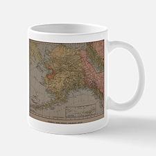 Vintage Map of Alaska (1910) Mugs