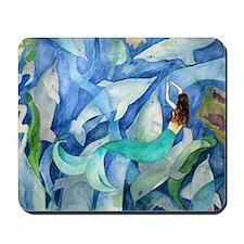 Dolphin & Mermaid Party Mousepad