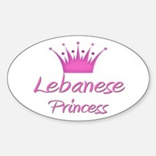 Lebanese Princess Oval Decal