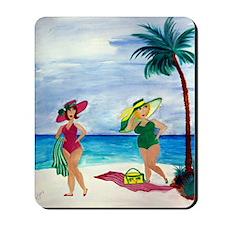 Beach Babes Mousepad