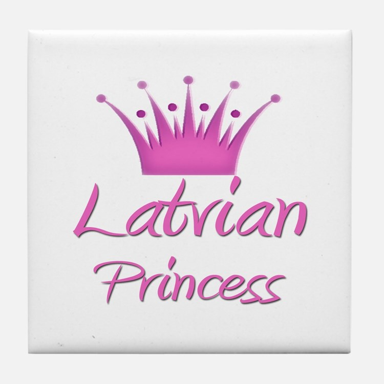 Latvian Princess Tile Coaster