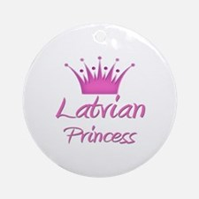 Latvian Princess Ornament (Round)