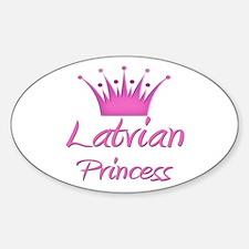 Latvian Princess Oval Decal