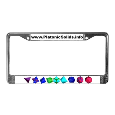 Platonic Solids License Plate Frame