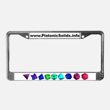 Platonic Solids License Plate Frame