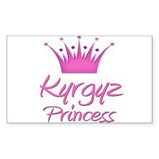 Kyrgyz Princess Rectangle Decal