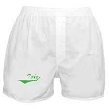 Zoie Vintage (Green) Boxer Shorts