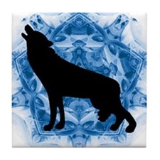 Wolf Silhouette Tile Coaster