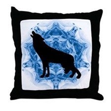 Wolf Silhouette Throw Pillow